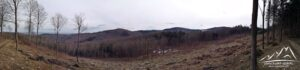 Panorama z tzw. Dębowego Zbocza.