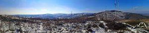 Panorama z zejścia z Srebrnej Kopy.