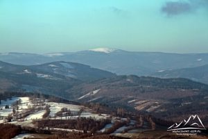 Biskupia Kopa - widok na Śnieżnik.