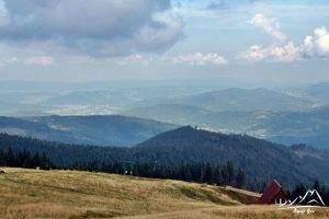 Panorama z okolic schroniska.