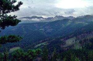 Panorama na Tatry Wysokie.