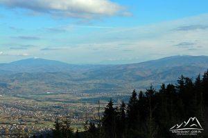 Jeszcze raz panorama na Babią Górę, Tatry i Pilsko.