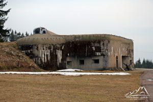 Jeden z bunkrów w miejscowości Hanicka.
