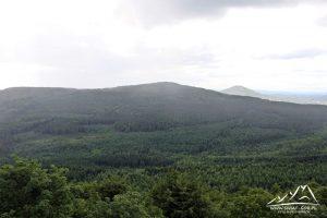 Panorama na niemiecką część Gór Łużyckich.