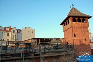 Pozostałości zamku.