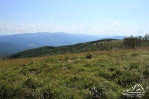 Panorama widokowa z Małej Rawki.