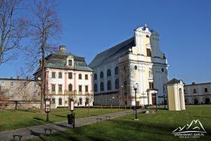 Krzeszów - dom opata oraz kościół św. Józefa